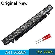 Nova Bateria Original A41-X550A Para ASUS A41-X550 X450 X452EA X452C X550 X550C X550B X550V X450C X550CA 15V 44Wh