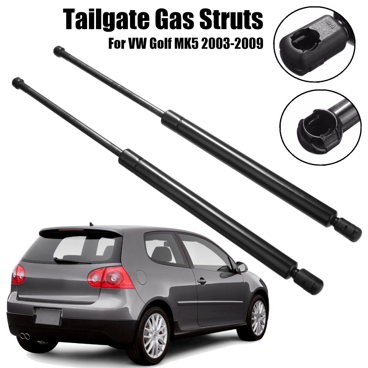 2 pièces voiture arrière queue porte gaz entretoises démarrage supports Support de levage pour VW Golf MK5 2003-2009 1K6827550D