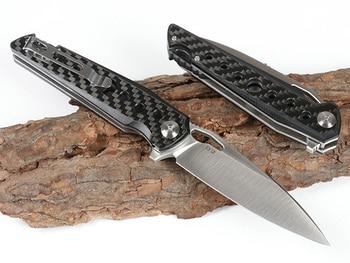 KESIWO folding knife D2 blade pocket camping hunting survival knives flipper carbon fiber tactical kitchen outdoor gift EDC tool 2