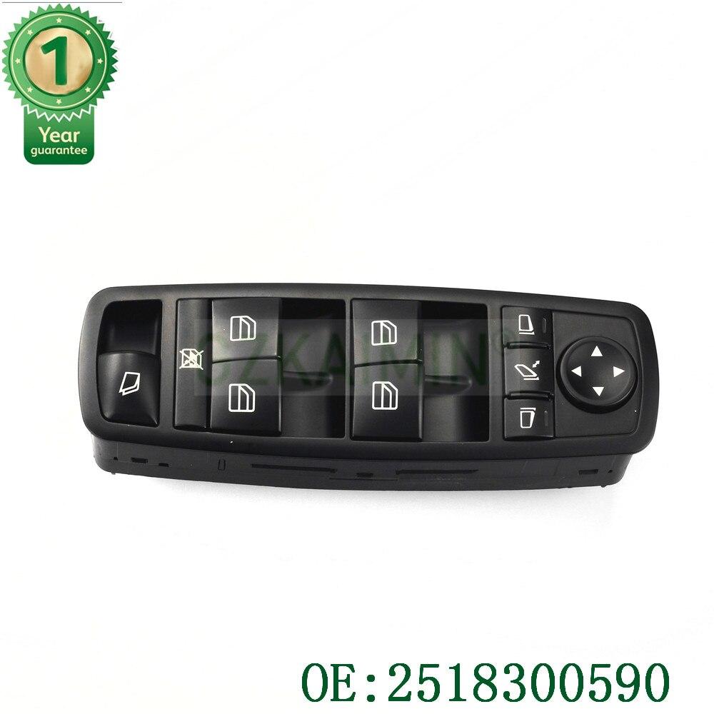 TOP qualité tout nouveau 2518300590 fenêtre interrupteur principal pour Mercedes GL R classe ML350 W251 X164 GL450 R350 No. A251 830