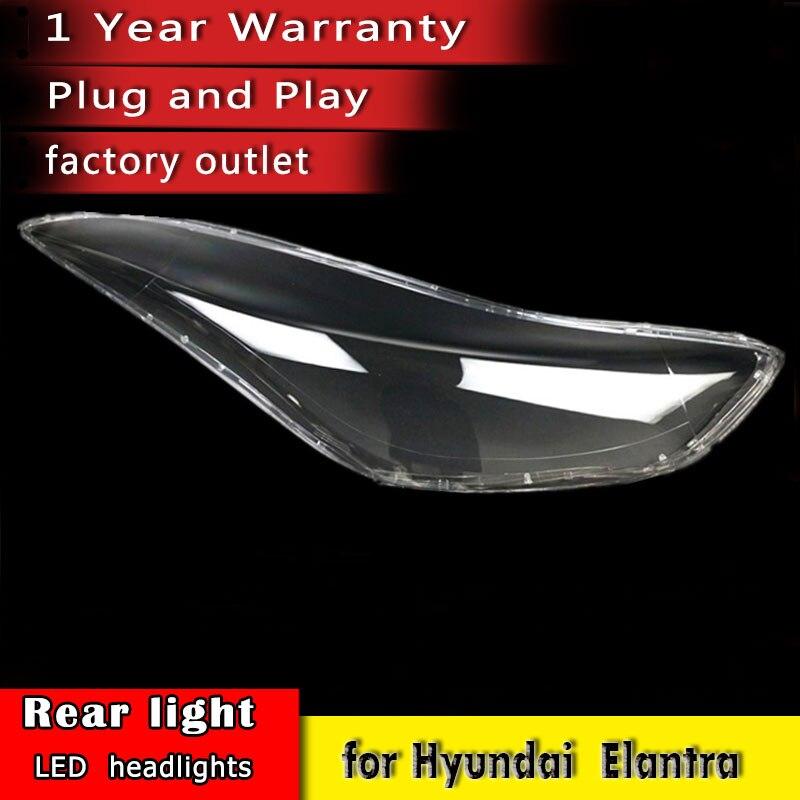 New Car Headlight Lens  2012 2013 2014 2015 2016 For Hyundai Elantra Headlamp Lens Car Replacement Auto Shell Cover