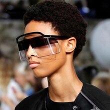Vintage Oversized Visor Mask Sunglasses Women Men 2019 Windproof Shield