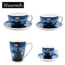 Европейская Звездная кофейная чашка, блюдце, набор Латте, чашки с цветами, креативные послеобеденные чайные чашки, домашние кухонные аксессуары, посуда для напитков