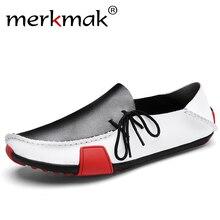 Merkmak Men Leather Shoes Mens Loafers S
