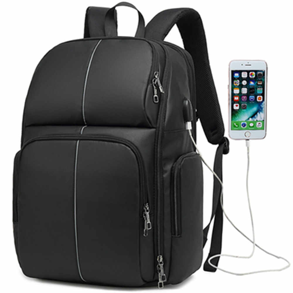 Mochila COOLBELL 17. Pulgadas USB Laptop mochila bolsa de negocios de gran capacidad línea nocturna reflectante estudiante bolsa de viaje de ocio