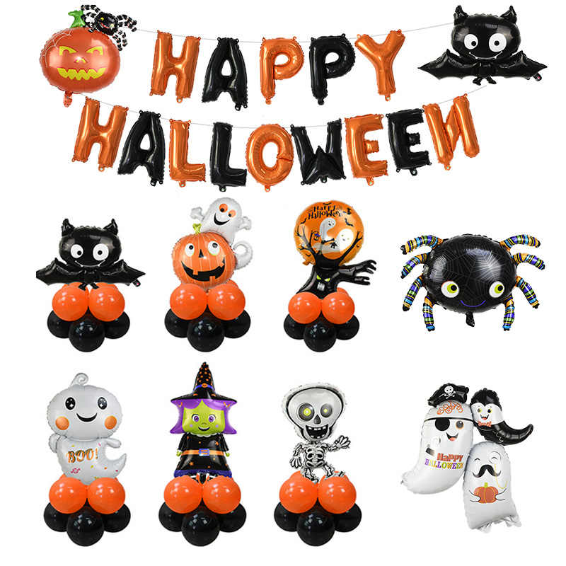Happy Halloween Ballon Dekoration Cartoon Folie Helium Ballons für Halloween Party Ornament Requisiten Hause Liefert