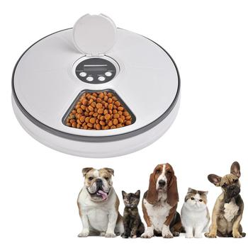 Automatic Pet Feeder Timing 6 Grids Food Compartments For Dog Cat Rabbit Dry And Wet Food Plate Pet food Bowl Dispensers