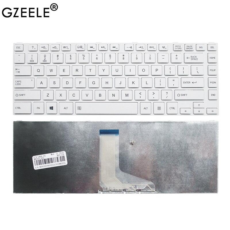 GZEELE US Laptop White Keyboard For Toshiba Satellite L800 L800D L830 L835 L840 L845 P840 P845 C800 C840 C845 M800 M805 M840 New