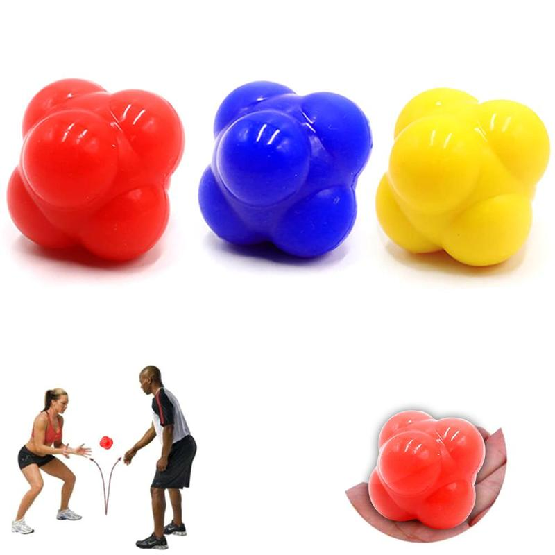 Silicone Hexagon Ball Speed Agile Fitness High And Low Difficulty Physical Fitness Training Response Ball Sports Reaction Ball