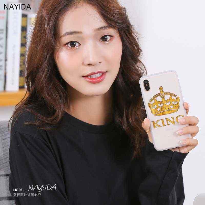 Coque souple TPU pour Samsung Galaxy J6 J8 J5 J7 J4 Plus 2018 2016 2017 EU Prime Pro CORE roi reine Couple couronne
