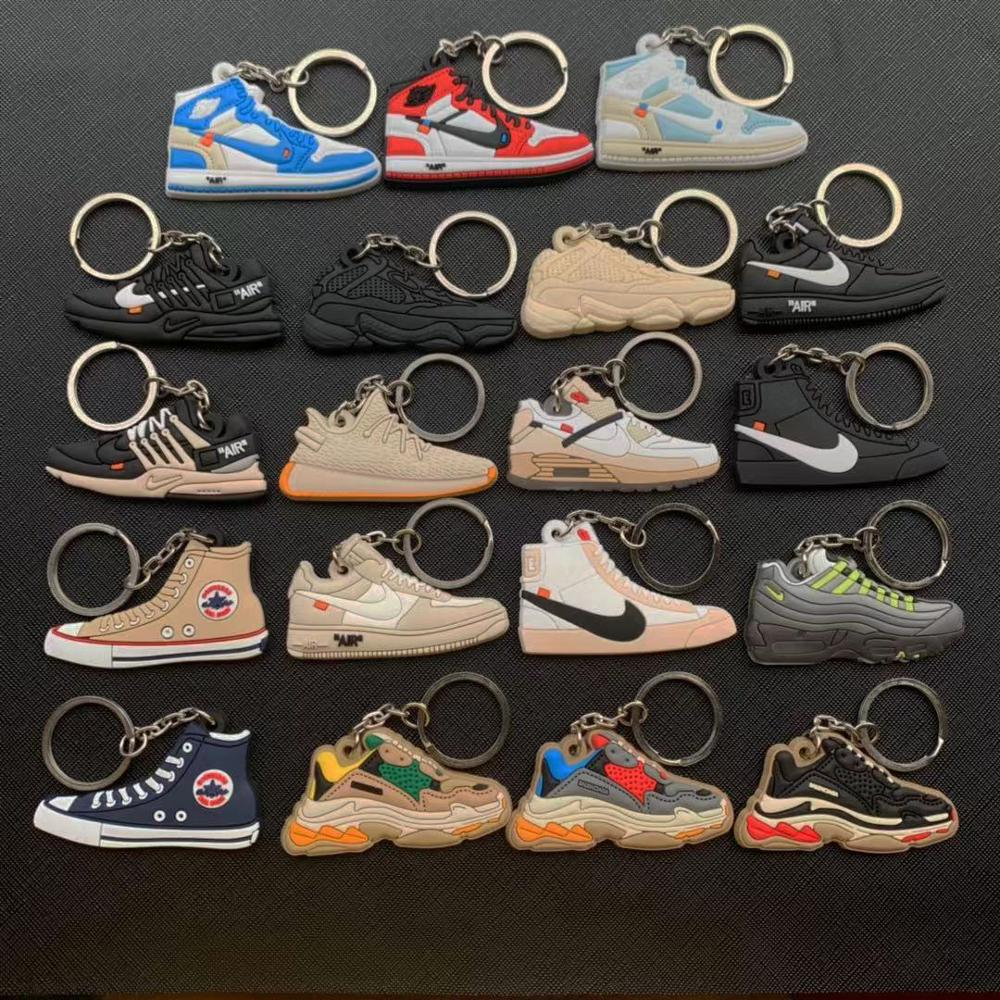 Cute Keychain Mini Jordan 1 Shoe Key Chain Woman Men Kids Gift Fashion Max 1 Key Ring Basketball Sneaker Porte Clef