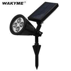 Wakyme 4 conduziu a lâmpada do gramado pico paisagem movido a energia solar luz de parede jardim decoração spotlight caminho quintal à prova dwaterproof água luz do ponto