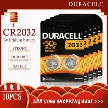 10PCS Original DURACELL CR2032 DL2032 Button Cell Battery 3V Lithium Batteries for Watch Computer Calculator Control DL/CR 2032