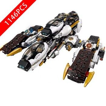 New Ninjaing Series Toys Ultra Stealth Raider Compatible lepinngly Ninjaing 70595 Building Blocks Toys for Kid Birthday Gift