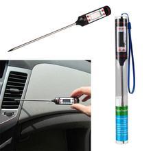 Автомобильный Автомобильный воздушный выход Тип иглы ЖК-цифровой термометр датчик проверить инструмент