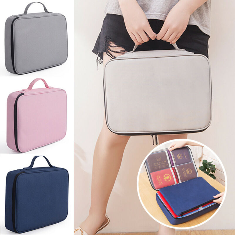 Travel Waterproof Travel Storage Bag Document File Organizer Zipper Pouch UK