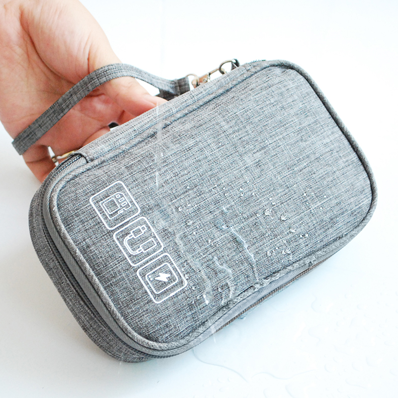Cable Bag Organizer Wires Charger Digital USB Gadget Portable Electronic Earphone Case Zipper Storage Pouch Accessories Supplies