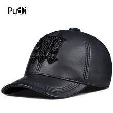 Pudi man baseball cap hat 2019 brand new real leather caps hats HL916 цена