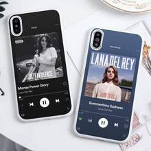 Lana Del Rey reproductor de música disco teléfono caso Color blanco para iPhone 11 pro XS MAX 8 7 6 6S Plus X 5S SE 2020 XR