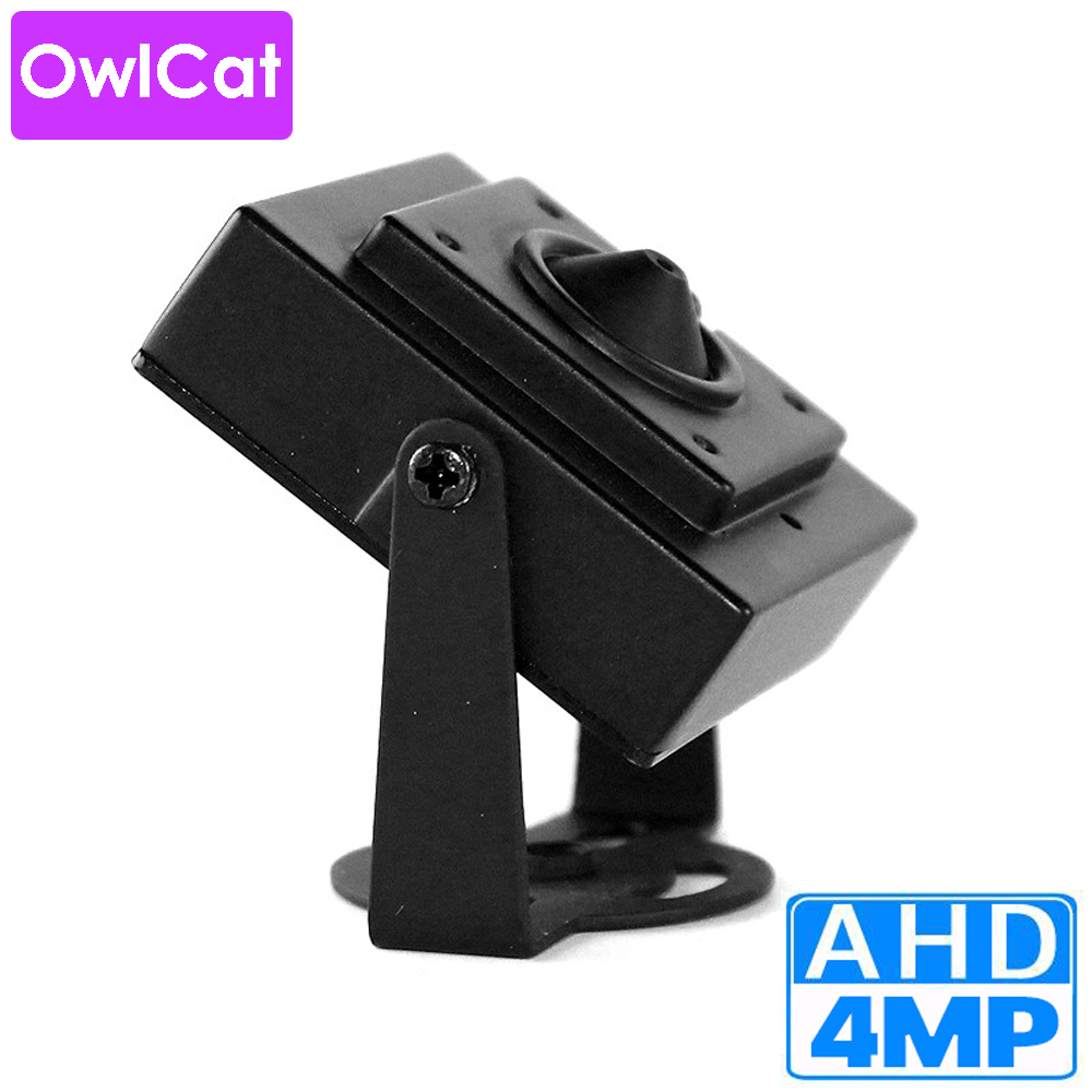OwlCat Mini AHD 4MP 2MP 1MP Video Surveillance Security Cameras Metal 3.7mm Lens HD Megapixels Analog HD CCTV Camera
