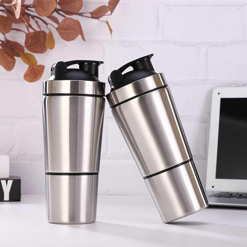 2020 New Stainless Steel Cup Vacuum Mixer Outdoor Drink 26OZ Kettle Detachable  Whey Protein Powder Sports Shake Bottle|Shaker Bottles| - AliExpress