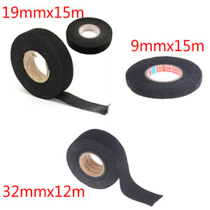 19mmx15m Heat-resistant Wiring Harness Tape Looms Wiring Harness Cloth Fabric Tape Adhesive Cable Protection 9mmx15m 32mmx12m