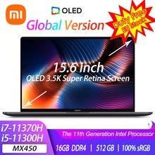 2021 xiaomi portátil pro 15 i7-11370H/i5-11300H mx450 oled 3.5k tela retina super notebook 15.6 Polegada 100% srgb computador de escritório