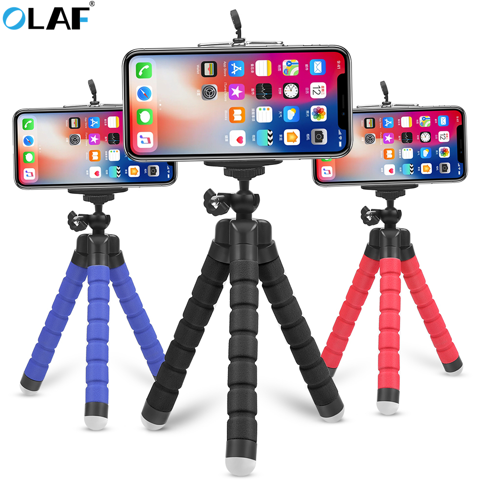 Flexible Tripod Phone <font><b>Holder</b></font> for iPhone 11 Pro Max Samsung Xiaomi Sponge Octopus Mobile Phone Stand <font><b>Smartphone</b></font> Tripod for Camera image
