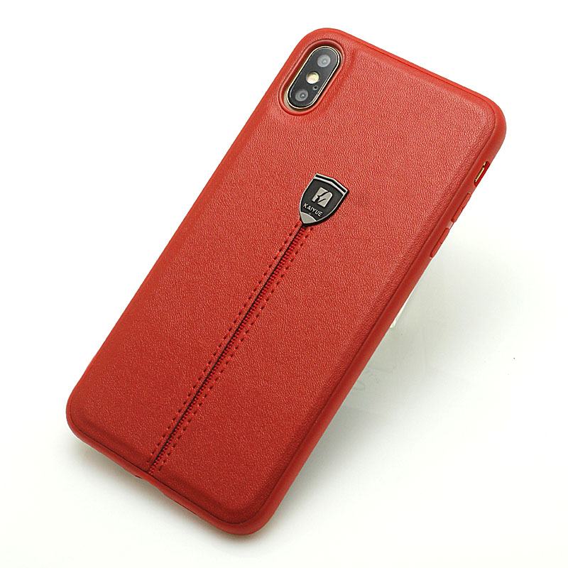 For <font><b>iPhone</b></font> XS Max Back <font><b>Case</b></font> Retro Iron <font><b>Logo</b></font> <font><b>Leather</b></font> iPhone7 <font><b>8</b></font> Protective <font><b>Case</b></font> Vintage Business Back Cover for Apple <font><b>iPhone</b></font> XS XR image