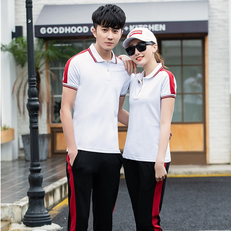 Summer Pure Cotton Men And Women Sports Clothing COUPLE'S Running Mountain Climbing Sportswear Travel Holiday Light Leisure Suit