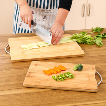 Hanging Chopping Blocks Kitchen Wood Food Plate Bamboo Pizza Sushi Bread Whole Tray Vegetable Meat Tools Kitchen Accessories|Chopping Blocks| |  -