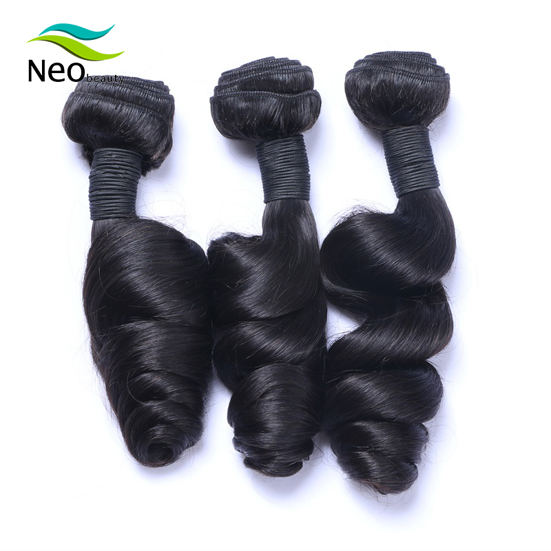Neobeauty Brazilian Loose Wave Bundles 100% virgin Hair Extensions Natural Black 1/3/4 Bundles Deal Human Hair Weave Bundles Wef