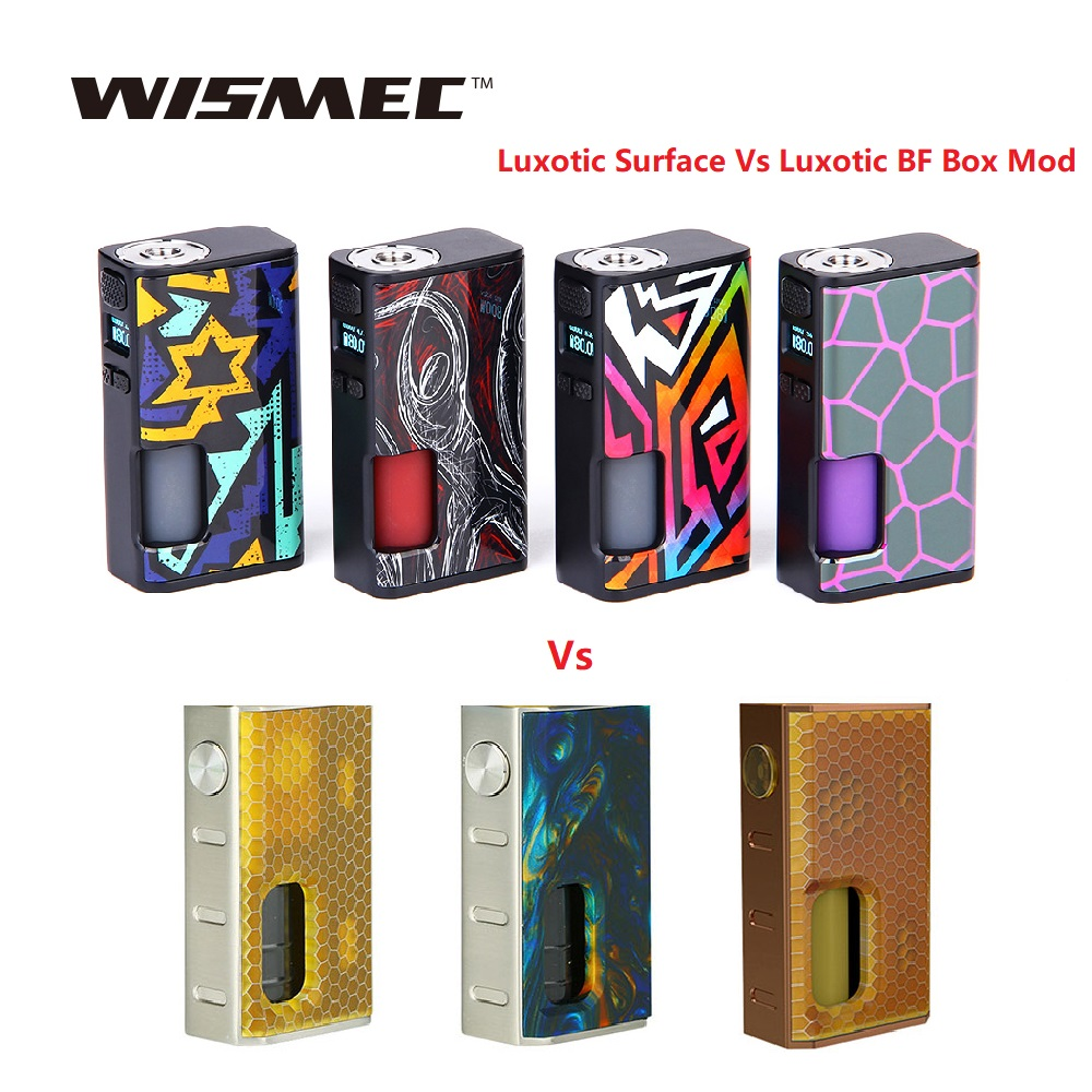 Wismec Luxotic Surface 80W TC Box <font><b>MOD</b></font> with 6.5ml Bottle Fits KESTREL Tank E-cig <font><b>Vape</b></font> <font><b>Mod</b></font> Vs Luxotic BF Box <font><b>Mod</b></font> / Sinuous P228 image