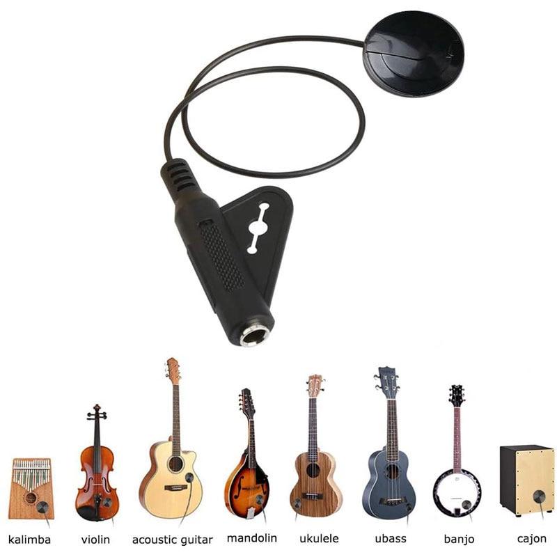 Guitarra acústica captador piezo transdutor contato captador para guitarra popular ukulele violino bandolin banjo kalimba harpa acessórios-0