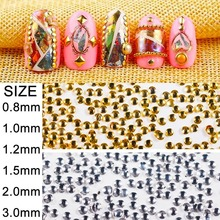 500pcs0.8-3mm Japanese-style Nail Accessories, Nail Decoration Accessories DIY Handmade Jewelry Accessories Makeup Tools