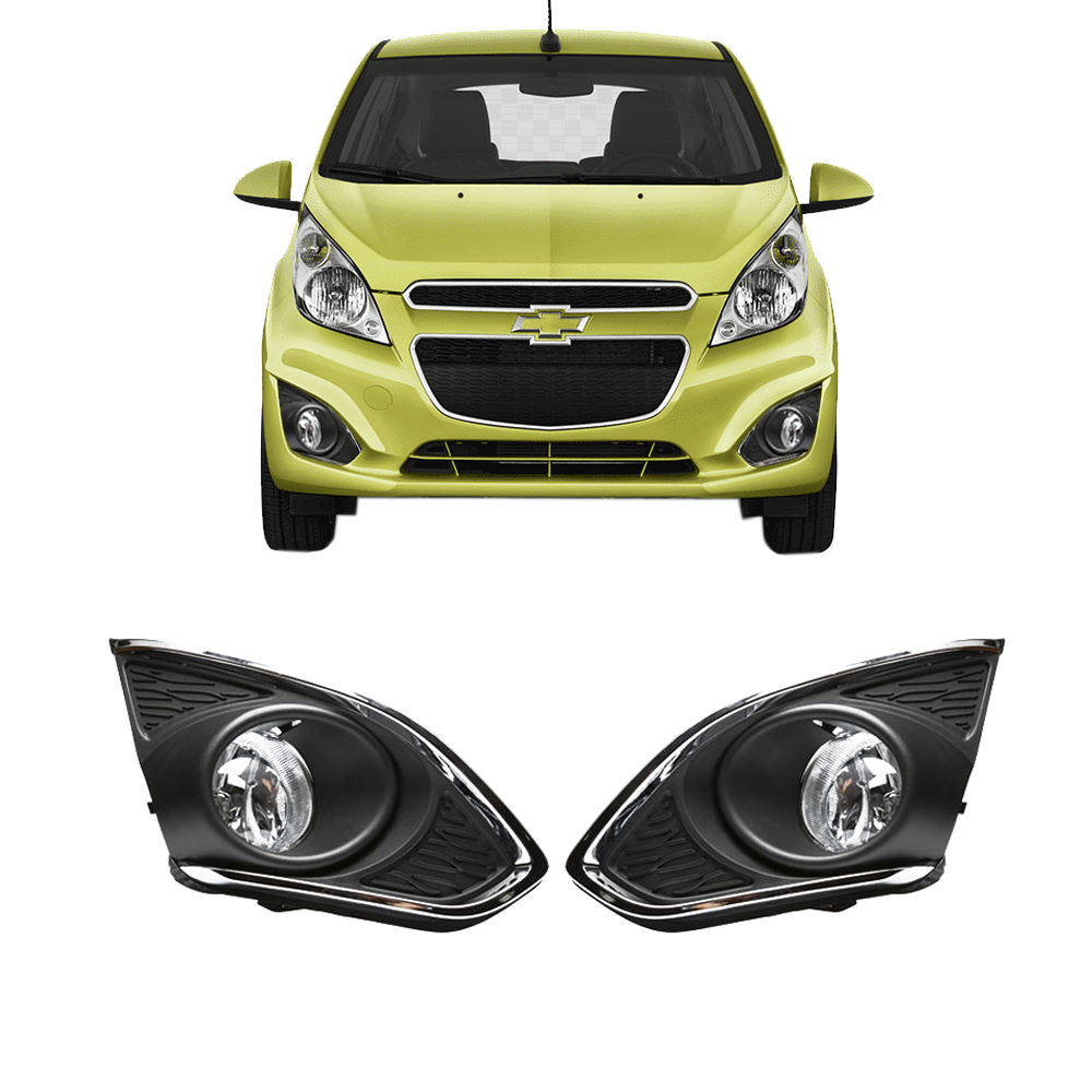 Magic ColorM Chrome Driving Lamps Fog Lights For Chevrolet Chevy Spark 2013-2015 With Wires Harness Switch