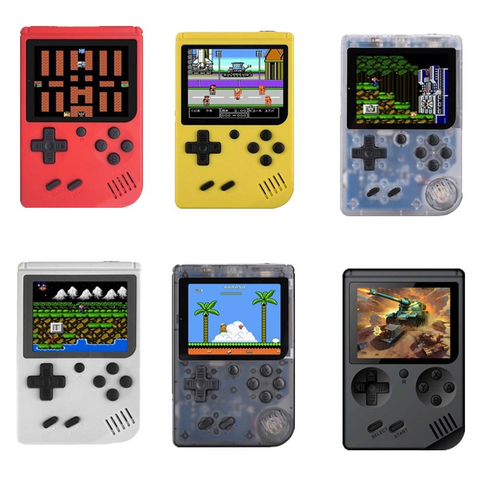 MINI portable retro handheld game 8 bit 168 Games children boy nostalgic players video game console for Child Nostalgic Player(China)