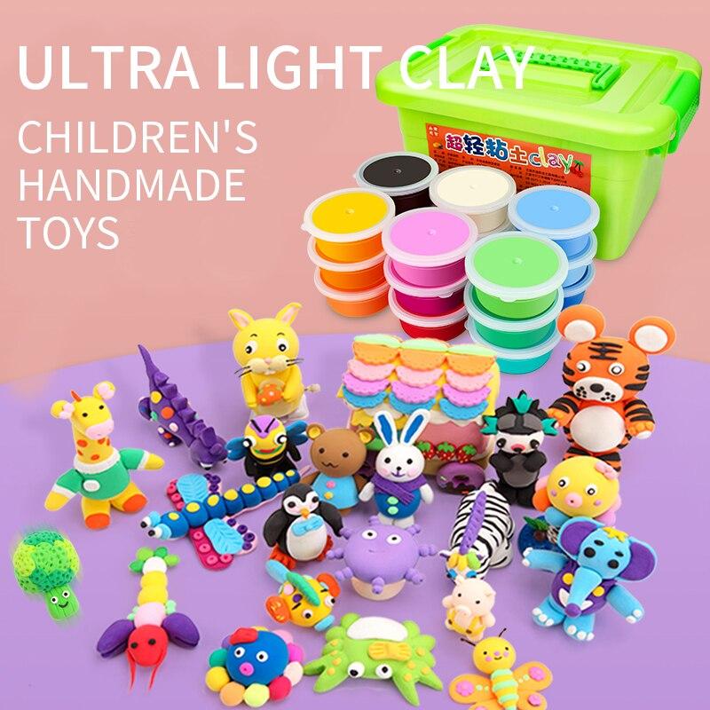 24/36 Colors Slime Soft DIY Modelling Clay Kids DIY Foam Playdough Learning Educational Toys Plasticine слаймы