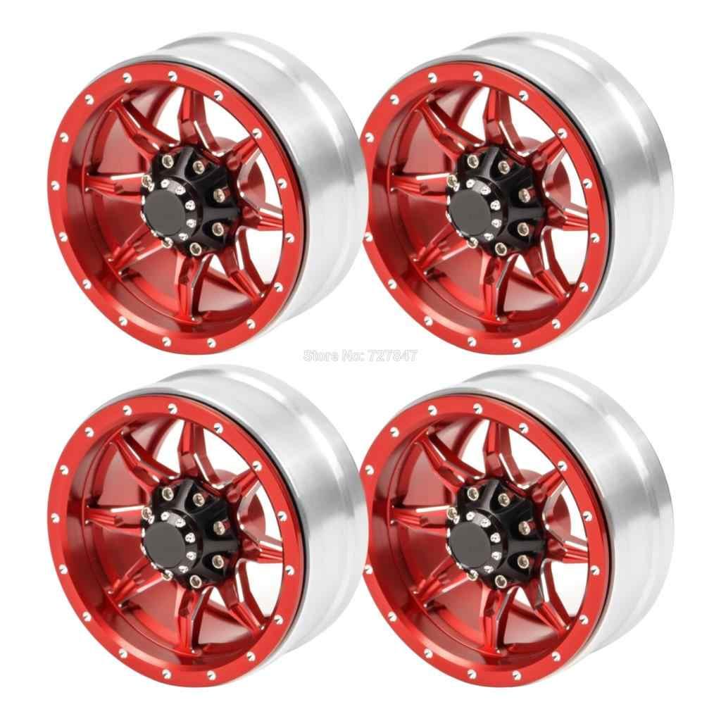 "Metal 1.9 ""Beadlock Velg voor 1:10 RC Crawler Axiale SCX10 90046 90047 Tamiya CC01 D90 D110 RC Auto wiel Hub"