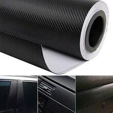 цена на 30cmx127cm 3D Carbon Fiber Vinyl Car Wrap Sticker Sheet Roll Film Car Interior  Motorcycle Automobiles Car Styling Accessories