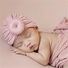 2019 New Cotton Solid Knot Baby Indian Skullies Beanies Soft Warm Kids Children Hats Apparel Accessories-YSC
