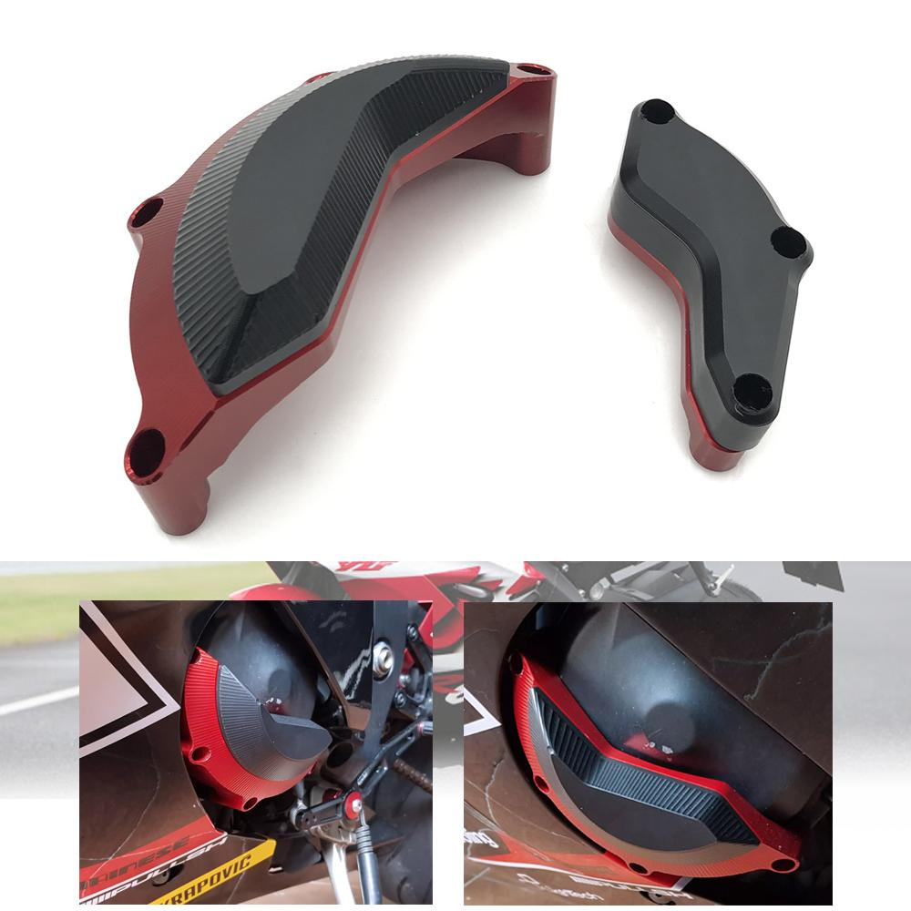 For YAMAHA R6 2008-2017 Engine Case Stator Clutch Cover Guards Crash Pad Frame Sliders Protector anti-drop block Protector