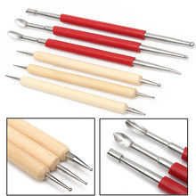 6 Pcs Veel Lederen Pmc Craft Modelling Splicing Embossing Lepel & Carving Tool Craftool Stylus Kit(China)