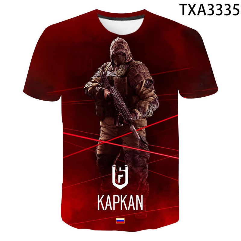 Hot Game Rainbow Six Siege 3D T Shirt Men Women Children Summer Fashion 3D Print Casual Boy Girl Kids Tops Cool Tee Clothes