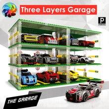 Три слоя для гаража carbarn известных автомобилей Автомобили