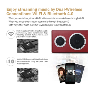 Image 3 - GGMM M4 Wireless WiFi Speaker Bluetooth Speaker MFi Certificated Portable Heavy Bass Sound for iOS Android With Multi room Play