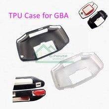 10Pcs Clear Black Tpu Case Tpu Beschermende Cover Case Voor Gba Voor Game Boy Advance Console Beschermhoes
