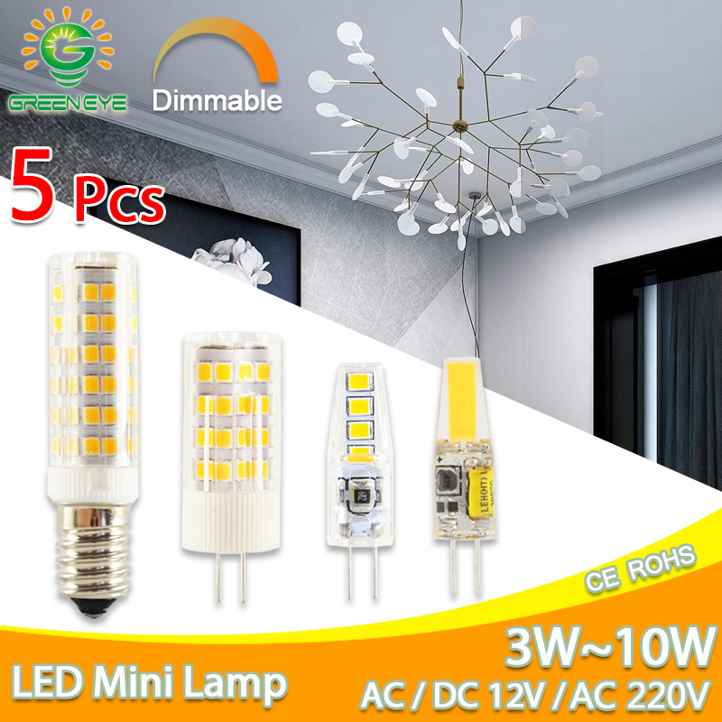 LED G4 Light G9 COB Led Lamp No Flicker Dimmable Ceramic E14 Bulb SMD2835 AC220V DC12V 3W 6W 9W 10W 12W Replace Halogen G4 Lamp