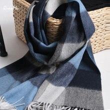 Winter Scarf Men Wool Warm Scarfs Fashion Design Scarves Wools  High Quality Thick Long