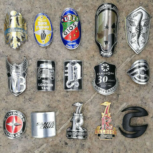Alloy Head Badge Decals Stickers FOR BMX Bicycle MTB Bike Frame Fixed Gear Tube Free Shipping brompton stickers